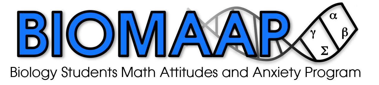 Biology Students Math Attitudes and Anxiety Program (BIOMAAP): a QUBES Faculty Mentoring Network Logo