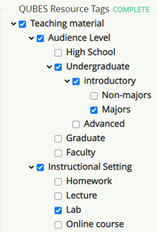 add tags in the ontologies by checking and unchecking categories. If a category has subtags those options will open upon checking the highest level