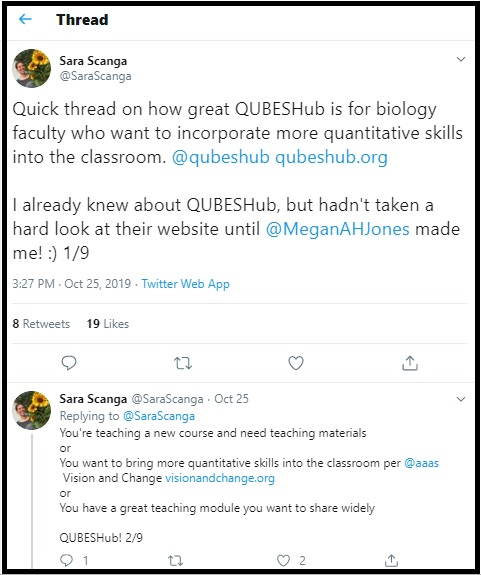 Sara Scanga tweet about OER