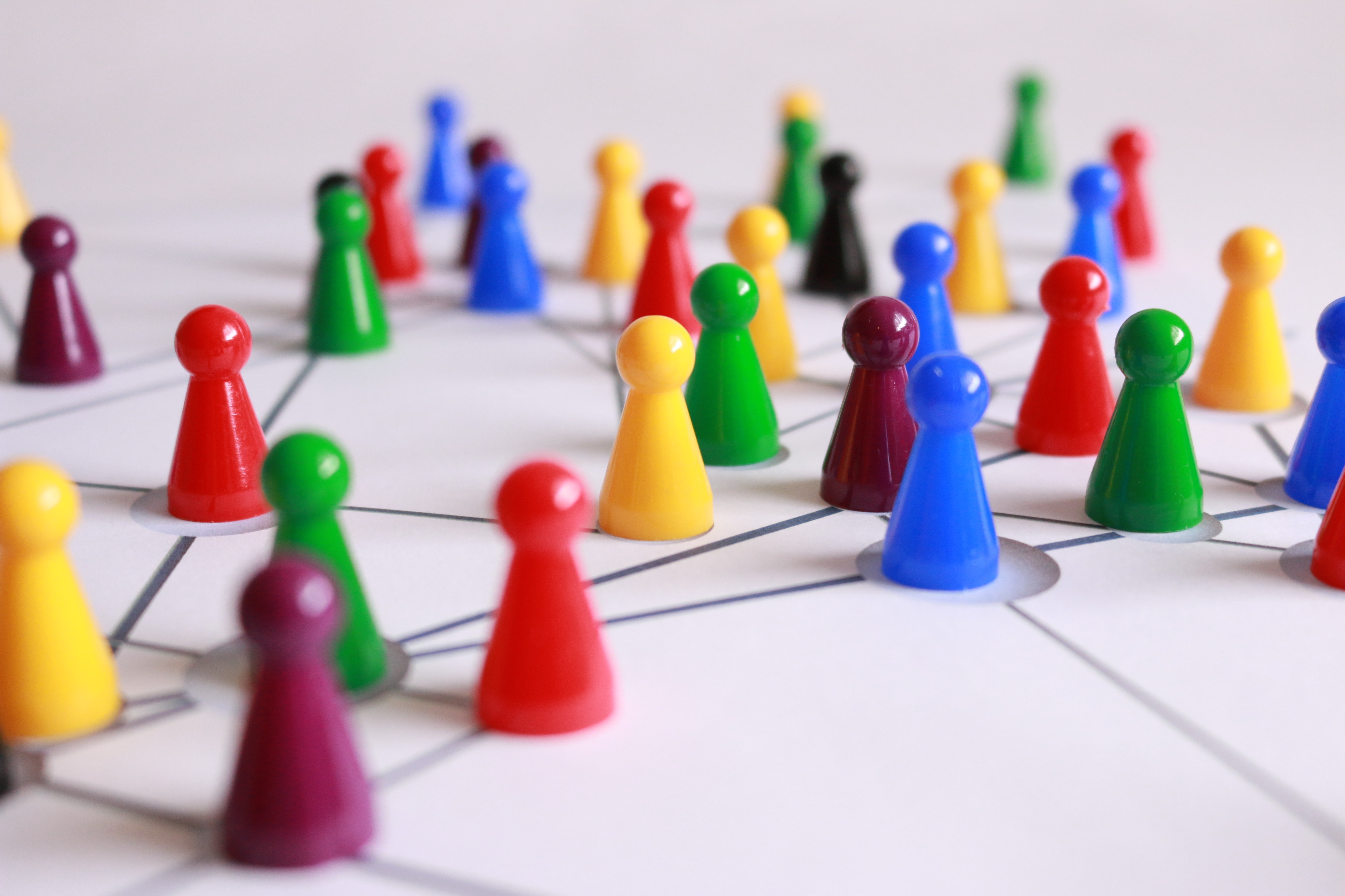 Image of a gameboard representing a network