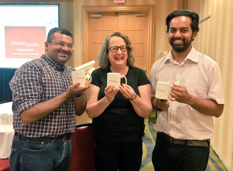 Photo of Anne Rosenwald with Gaurav Arora and  Vinayak  Mathur