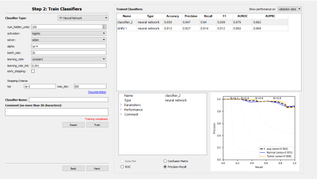 Screenshot of software used in this resource