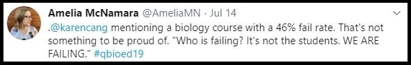 Amelia McNamara tweet