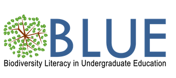 biodiversity literacy in undergraduate education (BLUE) logo
