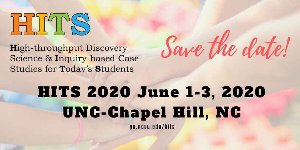 HITS 2020 Save the date! June 1-3, UNC Chapel Hill, NC