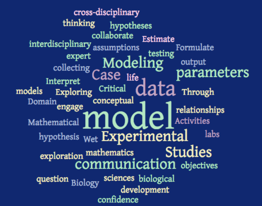 word cloud based on modeling