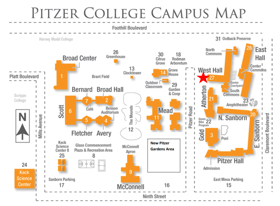 map of pitzer campus