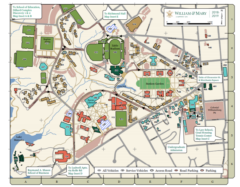 campus map of william and mary