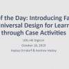 UDL of the Day: Introducing Faculty to Universal Design for Learning through Case Activities