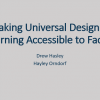 Making Universal Design for Learning Accessible to Faculty