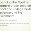 first slide of exploring the pipeline - engaging urban secondary school and college students in science and the environment.PNG