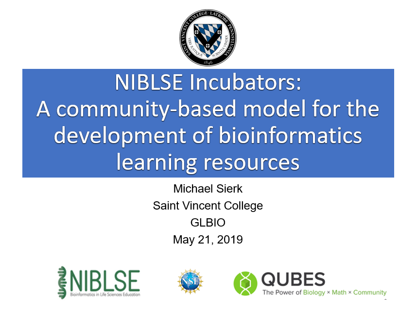 NIBLSE Incubators: A community-based model for the development of bioinformatics learning resources