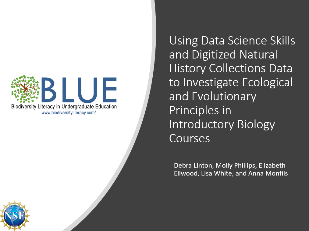 Using Data Science Skills and Digitized Natural History Collections Data to Investigate Ecological and Evolutionary Principles in Introductory Biology Courses