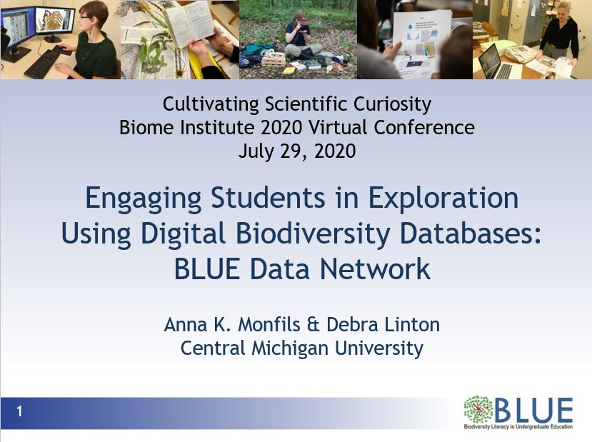Engaging students in data exploration using digital biodiversity databases: BLUE Data Network